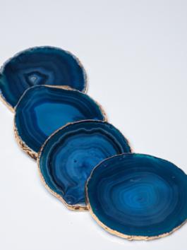 Porta Copo Ágata Azul – 4 Unidades
