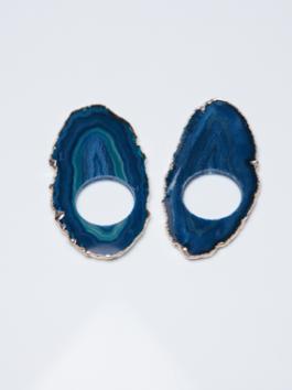 Porta Guardanapo Ágata Azul – Dupla