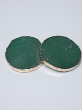 Porta Copo Quartzo Verde – 2 unidades